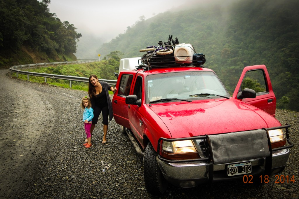 Ford Ranger driving road from Pasto to Mocoa Colombia through FARC territoryPutumayo