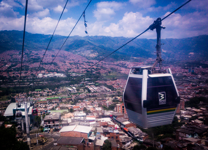metro cable car in medellin colombia