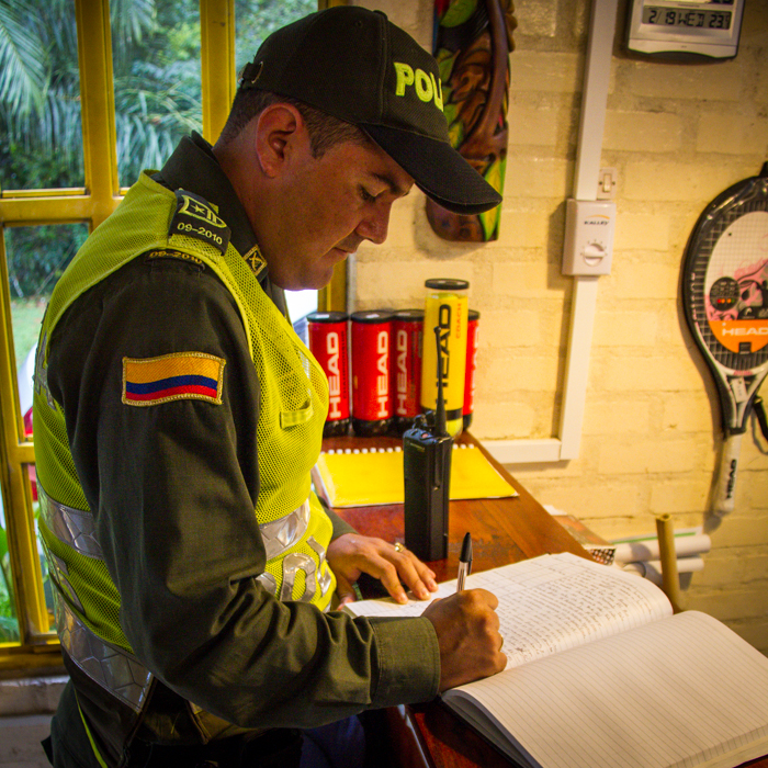 colombia police check hotel registry